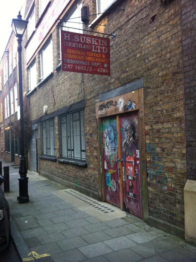 Combining both street art & tailoring...