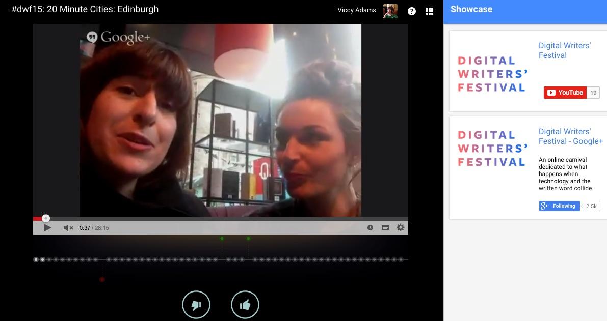If you missed us live this morning, catch us live on STV Edinburgh tonight#dwf15
